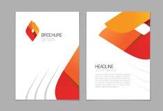 Διανυσματικό σχέδιο ιπτάμενων φυλλάδιων, A4 γεωμετρικό σκηνικό προτύπων σχεδιαγράμματος βιβλιάριων Στοκ φωτογραφία με δικαίωμα ελεύθερης χρήσης