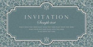 Διανυσματικό σχέδιο καρτών πρόσκλησης - εκλεκτής ποιότητας ύφος Στοκ εικόνες με δικαίωμα ελεύθερης χρήσης