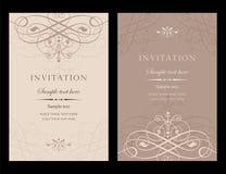 Διανυσματικό σχέδιο καρτών πρόσκλησης - εκλεκτής ποιότητας ύφος Στοκ φωτογραφίες με δικαίωμα ελεύθερης χρήσης