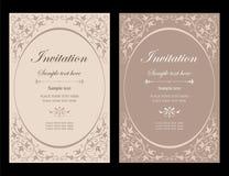 Διανυσματικό σχέδιο καρτών πρόσκλησης - εκλεκτής ποιότητας ύφος Στοκ Φωτογραφίες