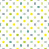 Διανυσματικό σχέδιο κεραμιδιών με τα σημεία Πόλκα στο άσπρο υπόβαθρο διανυσματική απεικόνιση