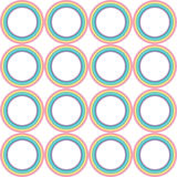 Διανυσματικό σχέδιο κύκλων ουράνιων τόξων κρητιδογραφιών Στοκ φωτογραφία με δικαίωμα ελεύθερης χρήσης