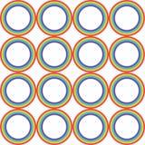 Διανυσματικό σχέδιο κύκλων ουράνιων τόξων Στοκ Φωτογραφίες