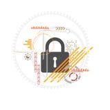 Διανυσματικό σχέδιο κλειδαριών τεχνολογίας Στοκ φωτογραφία με δικαίωμα ελεύθερης χρήσης