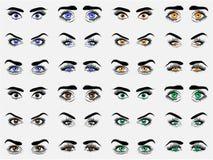 Διανυσματικό σχέδιο ματιών χρώματος Στοκ Εικόνες
