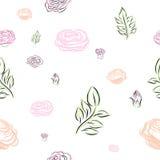 Διανυσματικό σχέδιο λουλουδιών Στοκ Εικόνα