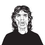 Διανυσματικό σχέδιο πορτρέτου του Μικ Τζάγκερ Στοκ εικόνες με δικαίωμα ελεύθερης χρήσης