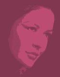 Διανυσματικό σχέδιο προσώπου γυναικών clipart Στοκ Εικόνες