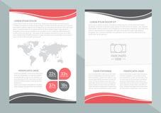 Διανυσματικό σχέδιο προτύπων ιπτάμενων με τη πρώτη σελίδα και την πίσω σελίδα Επιχειρησιακή φυλλάδιο ή κάλυψη ελεύθερη απεικόνιση δικαιώματος