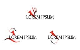 Διανυσματικό σχέδιο προτύπων λογότυπων φτερών του Phoenix Στοκ Εικόνες