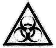 Διανυσματικό σχέδιο σημαδιών συμβόλων Biohazard Στοκ Εικόνες