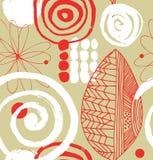 Διανυσματικό σχέδιο σχεδίων με τα διακοσμητικά συρμένα μελάνι στοιχεία διανυσματική απεικόνιση