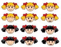Διανυσματικό σχέδιο του μικρού κοριτσιού Στοκ εικόνες με δικαίωμα ελεύθερης χρήσης