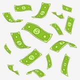 Διανυσματικό σχέδιο των πετώντας χρημάτων εγγράφου Στοκ Φωτογραφία