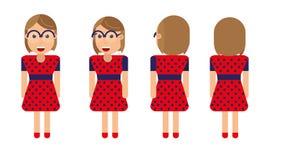 Διανυσματικό σχέδιο χαρακτήρα ενός νέου κοριτσιού Στοκ φωτογραφίες με δικαίωμα ελεύθερης χρήσης