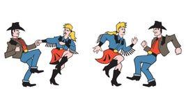 Διανυσματικό σχέδιο χορευτών χώρας Στοκ φωτογραφία με δικαίωμα ελεύθερης χρήσης