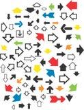 Διανυσματικό σχέδιο Clipart διάφορων βελών Στοκ Εικόνα