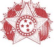 Διανυσματικό σχέδιο Clipart διακριτικών εμβλημάτων αστεριών Στοκ φωτογραφίες με δικαίωμα ελεύθερης χρήσης