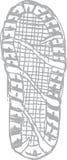 Διανυσματικό σχέδιο Clipart τυπωμένων υλών παπουτσιών Στοκ φωτογραφία με δικαίωμα ελεύθερης χρήσης