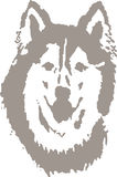 Διανυσματικό σχέδιο Clipart λύκων Στοκ εικόνες με δικαίωμα ελεύθερης χρήσης