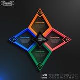 Διανυσματικό σχέδιο infographics με τα ζωηρόχρωμα rhombs Στοκ Φωτογραφίες