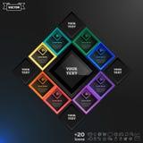 Διανυσματικό σχέδιο infographics με τα ζωηρόχρωμα rhombs Στοκ φωτογραφία με δικαίωμα ελεύθερης χρήσης