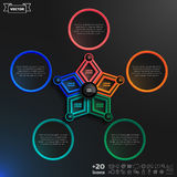 Διανυσματικό σχέδιο infographics με τα ζωηρόχρωμα rhombs Στοκ Εικόνα