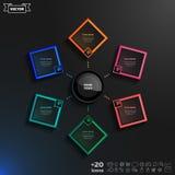 Διανυσματικό σχέδιο infographics με τα ζωηρόχρωμα rhombs Στοκ Φωτογραφία