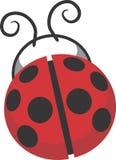 Διανυσματικό σχέδιο Ladybug clipart Στοκ Φωτογραφίες