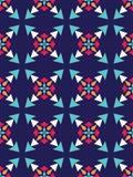 Διανυσματικό σύγχρονο άνευ ραφής ζωηρόχρωμο σχέδιο γεωμετρίας, περίληψη χρώματος Στοκ φωτογραφία με δικαίωμα ελεύθερης χρήσης