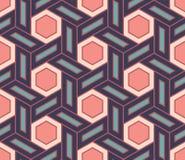 Διανυσματικό σύγχρονο άνευ ραφής ζωηρόχρωμο σχέδιο γεωμετρίας, περίληψη χρώματος Στοκ Φωτογραφία