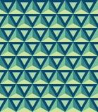 Διανυσματικό σύγχρονο άνευ ραφής ζωηρόχρωμο σχέδιο γεωμετρίας, τρισδιάστατα τρίγωνα Στοκ εικόνες με δικαίωμα ελεύθερης χρήσης