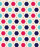 Διανυσματικό σύγχρονο άνευ ραφής ζωηρόχρωμο σχέδιο γεωμετρίας, hexagon Στοκ φωτογραφίες με δικαίωμα ελεύθερης χρήσης