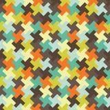 Διανυσματικό σύγχρονο άνευ ραφής ζωηρόχρωμο σχέδιο γρίφων γεωμετρίας, περίληψη χρώματος Στοκ εικόνες με δικαίωμα ελεύθερης χρήσης
