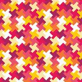 Διανυσματικό σύγχρονο άνευ ραφής ζωηρόχρωμο σχέδιο γρίφων γεωμετρίας, περίληψη χρώματος Στοκ Εικόνες