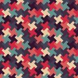 Διανυσματικό σύγχρονο άνευ ραφής ζωηρόχρωμο σχέδιο γρίφων γεωμετρίας, περίληψη χρώματος Στοκ Φωτογραφία