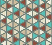 Διανυσματικό σύγχρονο άνευ ραφής ζωηρόχρωμο σχέδιο τριγώνων γεωμετρίας, περίληψη χρώματος Στοκ Εικόνα