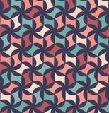 Διανυσματικό σύγχρονο άνευ ραφής ζωηρόχρωμο floral σχέδιο γεωμετρίας, περίληψη χρώματος Στοκ εικόνα με δικαίωμα ελεύθερης χρήσης