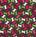 Διανυσματικό σύγχρονο άνευ ραφής ζωηρόχρωμο floral σχέδιο γεωμετρίας, περίληψη χρώματος Στοκ φωτογραφία με δικαίωμα ελεύθερης χρήσης