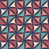Διανυσματικό σύγχρονο άνευ ραφής ζωηρόχρωμο floral σχέδιο γεωμετρίας, αφηρημένο γεωμετρικό υπόβαθρο χρώματος ελεύθερη απεικόνιση δικαιώματος
