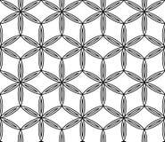 Διανυσματικό σύγχρονο άνευ ραφής ιερό λουλούδι σχεδίων γεωμετρίας της ζωής, γραπτή περίληψη ελεύθερη απεικόνιση δικαιώματος
