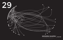 Διανυσματικό σύγχρονο τεχνολογικό υπόβαθρο μορφής Στοκ Εικόνα