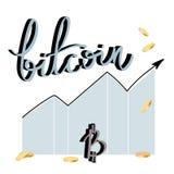 Διανυσματικό σύμβολο όγκου Bitcoin, crypto νόμισμα Στοκ Εικόνα