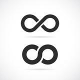 Διανυσματικό σύμβολο απείρου Στοκ Εικόνες
