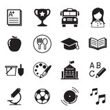 Διανυσματικό σύμβολο απεικόνισης εικονιδίων σχολικής εκπαίδευσης παιδικών σταθμών Στοκ Εικόνες