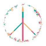 Διανυσματικό σύμβολο ειρήνης, η δύναμη της τέχνης απεικόνιση αποθεμάτων