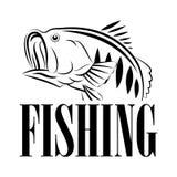 Διανυσματικό σύμβολο σχέδιο-απεικόνισης αλιείας Στοκ Εικόνα