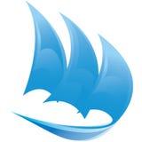 Διανυσματικό σύμβολο της πλέοντας βάρκας Στοκ Εικόνες