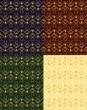 Διανυσματικό σύνολο απεικόνισης άνευ ραφής χρυσών σχεδίων στο εκλεκτής ποιότητας, αναδρομικό ύφος deco τέχνης στα διαφορετικά υπό απεικόνιση αποθεμάτων