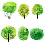 Διανυσματικό σύνολο αποβαλλόμενων δέντρων Στοκ φωτογραφία με δικαίωμα ελεύθερης χρήσης